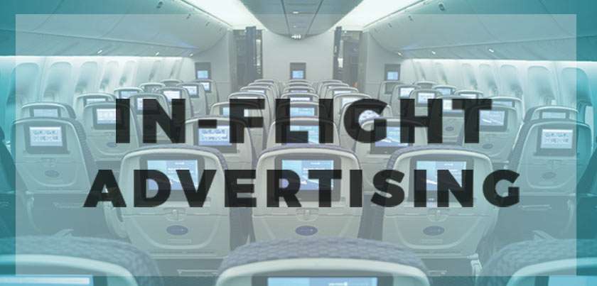 In flight advertisement